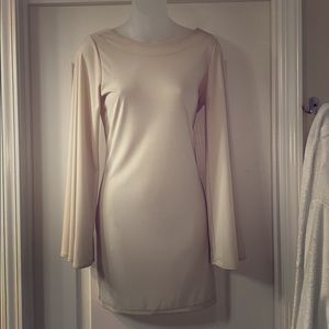 Cream Dress with Fluted Sleeves ASOS Size 8